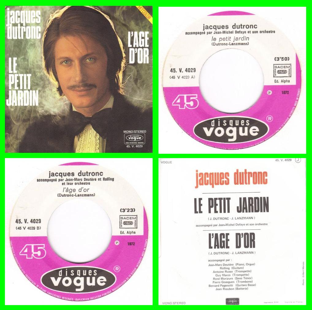 Acheter disque vinyle Le petit jardin Jacques Dutronc à vendre