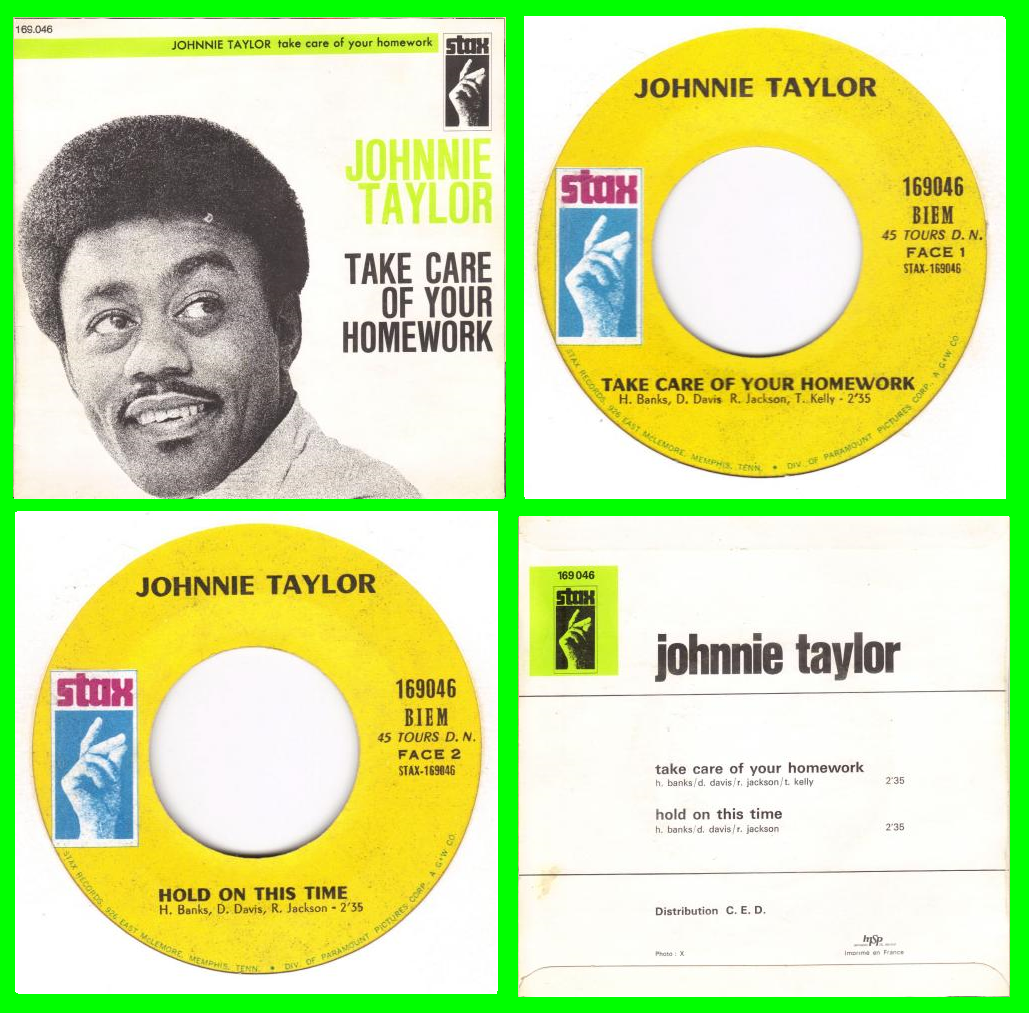 Acheter disque vinyle Johnnie Taylor Take care of your homework a vendre