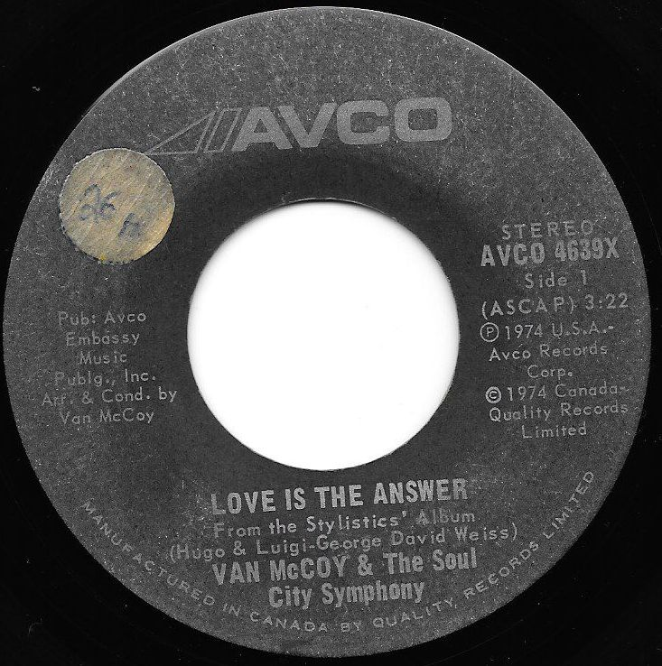 Buy vinyl artist% Love Is The Answer / Killing Me Softly for sale