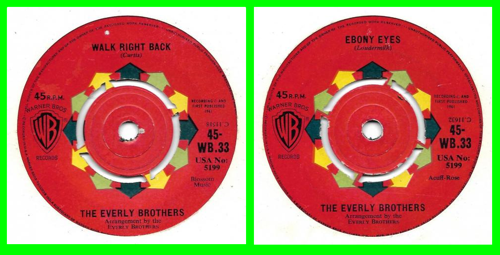 Acheter disque vinyle Everly Brothers Walk right back a vendre