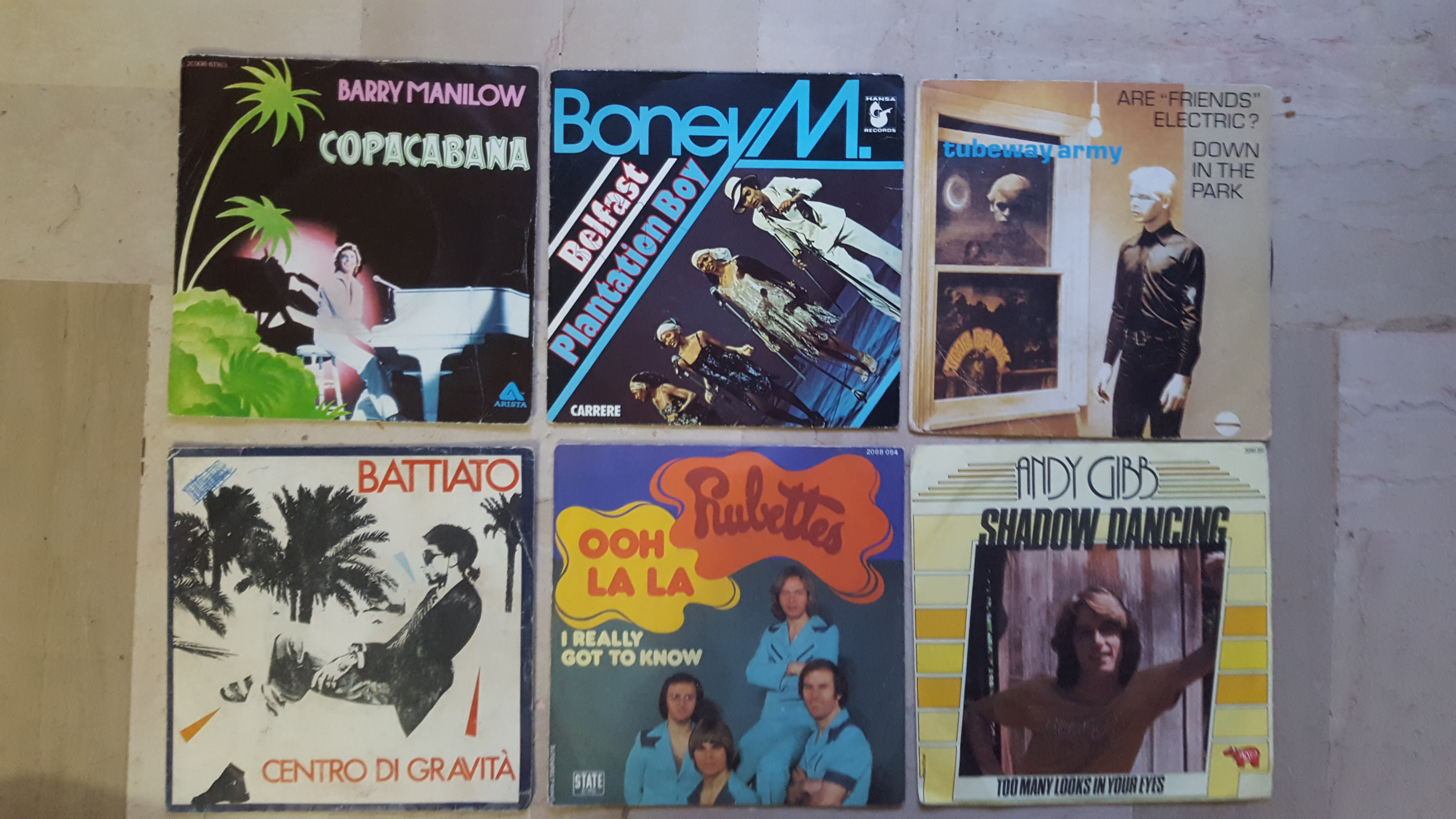 Buy vinyl artist% Centro di gravita ooh lala copacabana belfast plantation boy down in the park tubeway army for sale