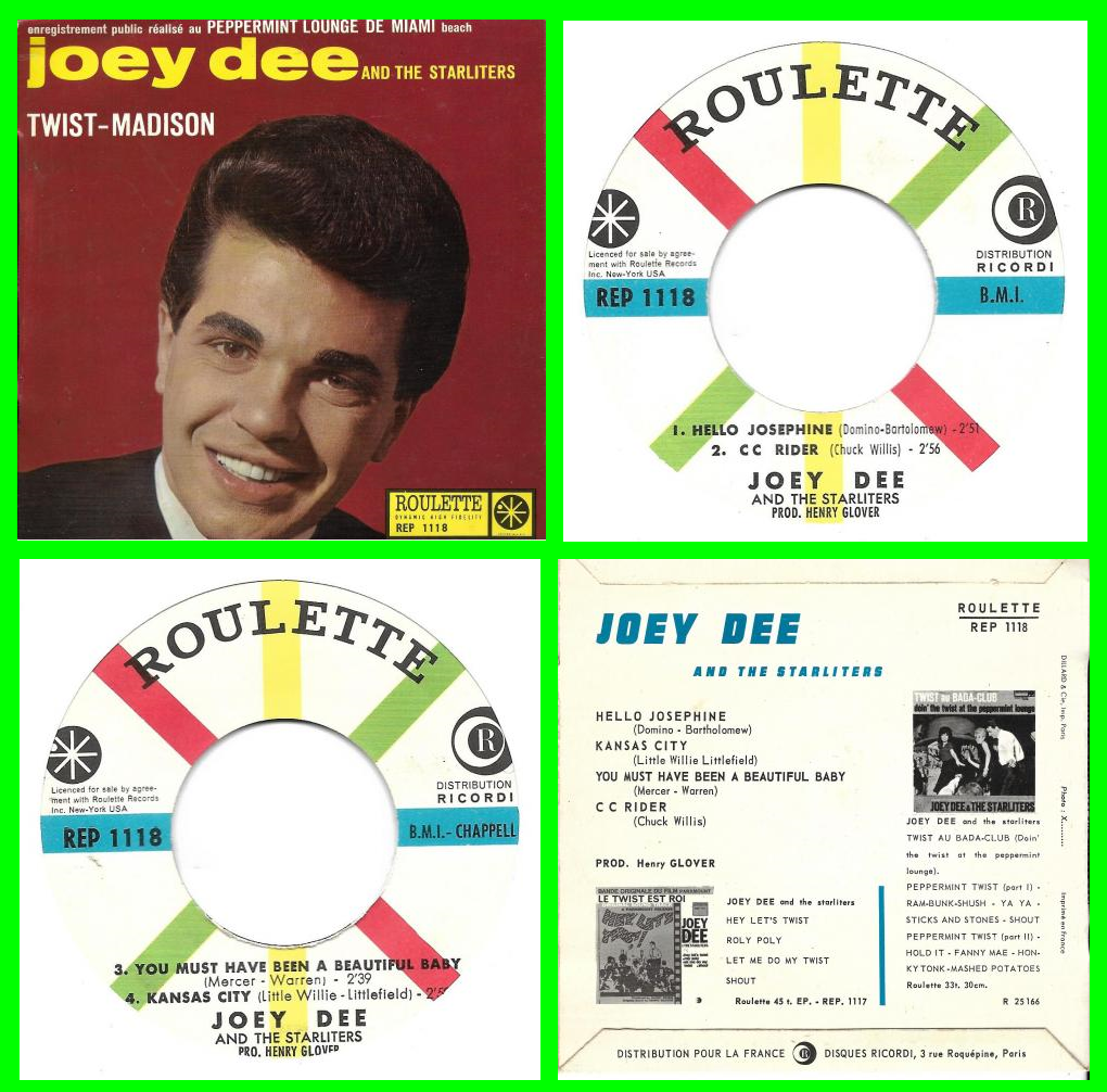 Acheter disque vinyle Joey Dee and The Starliters Twist-madison a vendre