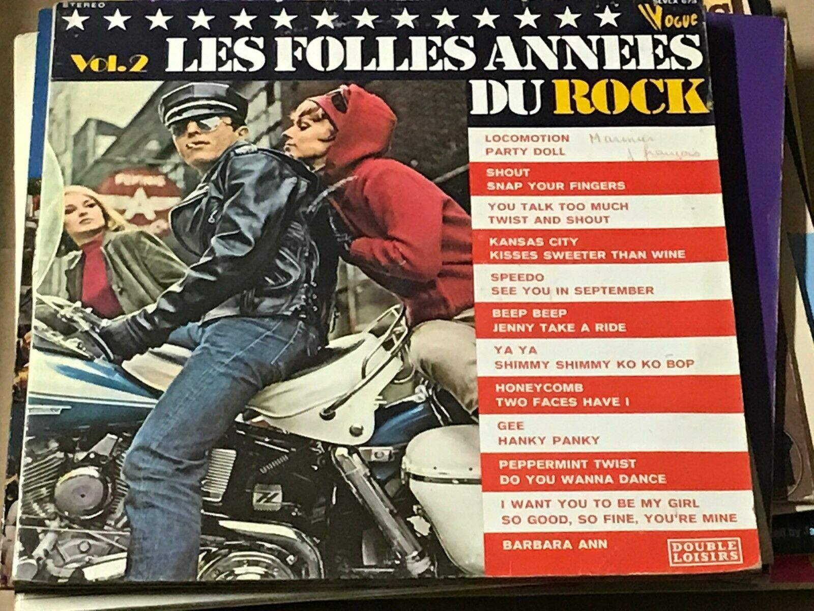 Buy vinyl artist% LES FOLLES ANNEES DU ROCK for sale