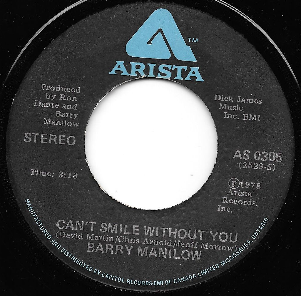 Buy vinyl artist% Can't Smile Without You / Sunrise for sale