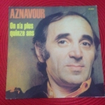 Buy vinyl record Aznavour Charles On n'a plus quinze ans for sale
