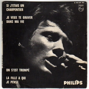 Buy this vinyl record : SI J'ETAIS UN CHARPENTIER + 3 HALLYDAY JOHNNY