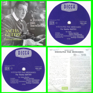 Buy this vinyl record : N'écoutez pas mesdames Sacha Guitry