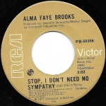 Buy vinyl record Alma Faye Stop, I Don't Need No Sympathy / instrumental for sale