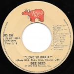 Acheter un disque vinyle à vendre Bee Gees, The Love So Right / You Stepped Into My Life