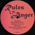 Buy vinyl record Rules of anger rules of anger for sale